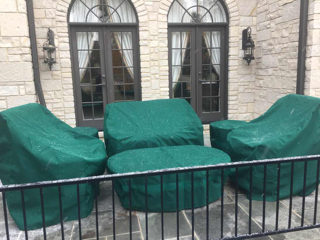 Patio Furniture Set Covers Sunbrella Forest Green