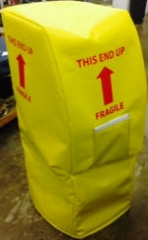 ATM form-fitted with zipper,grommets and document pocket_VCP 14oz_Yellow