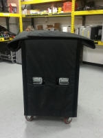 AV equip cover with dbl-sided half inch foam and Velcro closure
