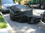 Bike trailer cover_Marine Vinyl_Black
