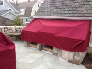 Canopy Cover Island Sunbrella Burgundy