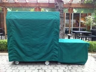 Cart covers_Sunbrella_Forest green