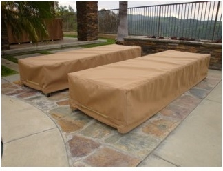 Chaise Lounge Covers Sunbrella Beige RJ