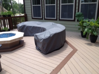 Curved Sectional Sunbrella Cover