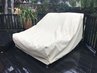 Double Chair Cover Stamoid Light Sand