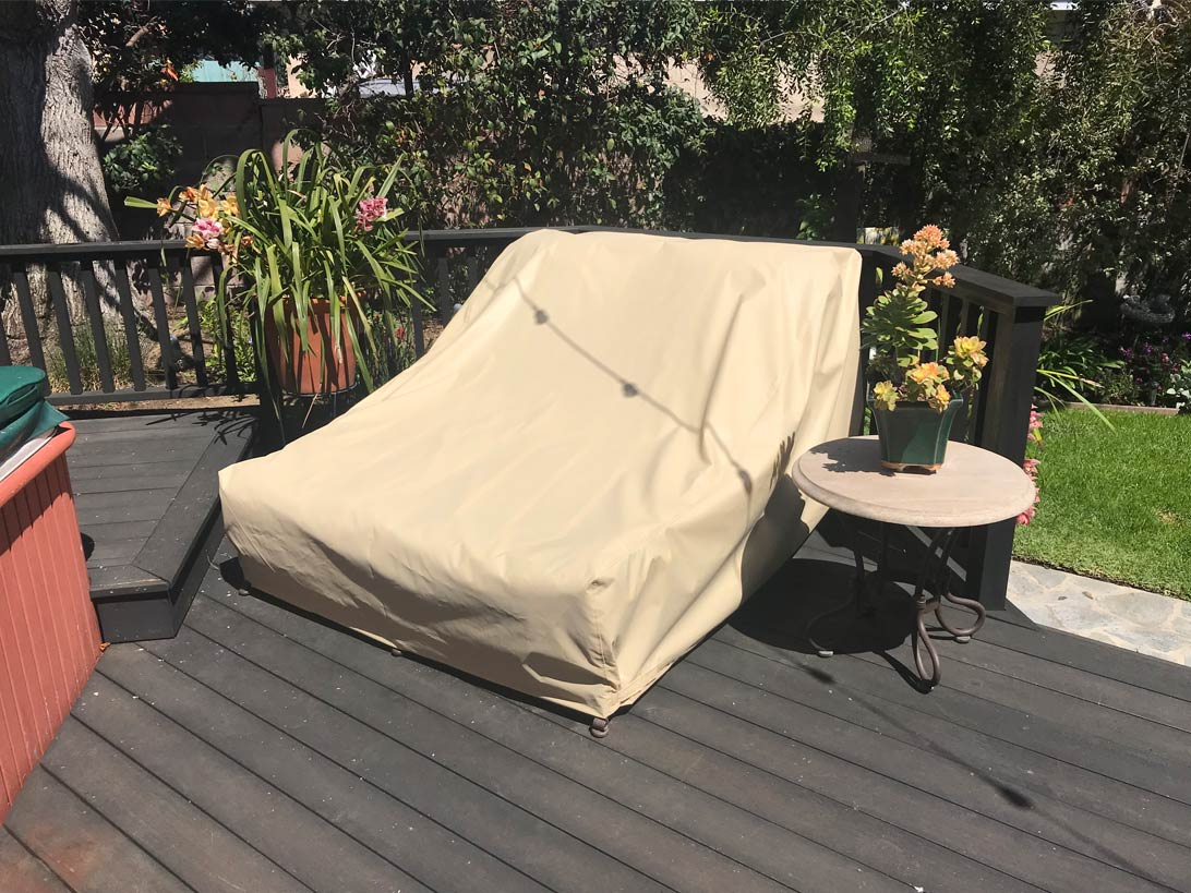 Dual Chaise Chair Cover Sunbrella