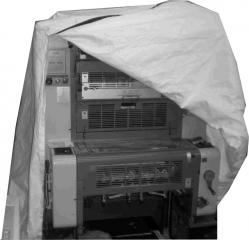 Equipment cover_Tyvek_White