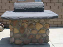 Island Cover Counter and Hood Cover with elastic band Sunbrella Canvas Charcoal Grey