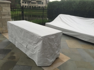 Island and daybed covers Stamoid Light Pearl Grey
