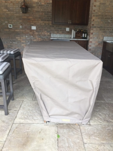 Island cover with Velcro fastener
