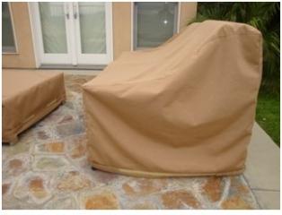 Lounge Chair Cover Sunbrella Beige