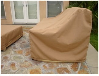 Lounge Chair Cover Sunbrella Beige
