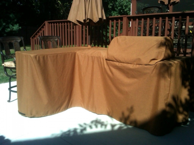 Luxury Bull BBQ Sunbrella Tan