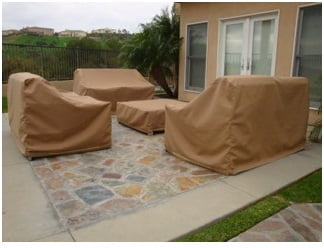 Patio Furniture Set Covers Sunbrella Beige