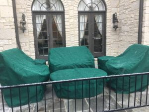 Yard furniture covers
