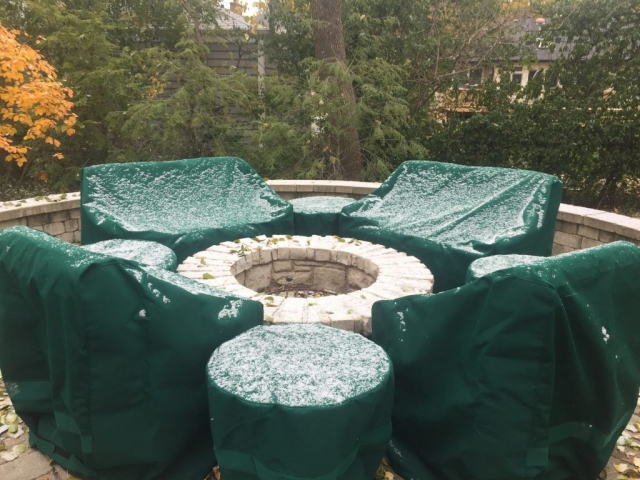 Patio Set Sunbrella Forest Green