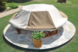 Patio Table Cover Octagon Two-Tone Cover