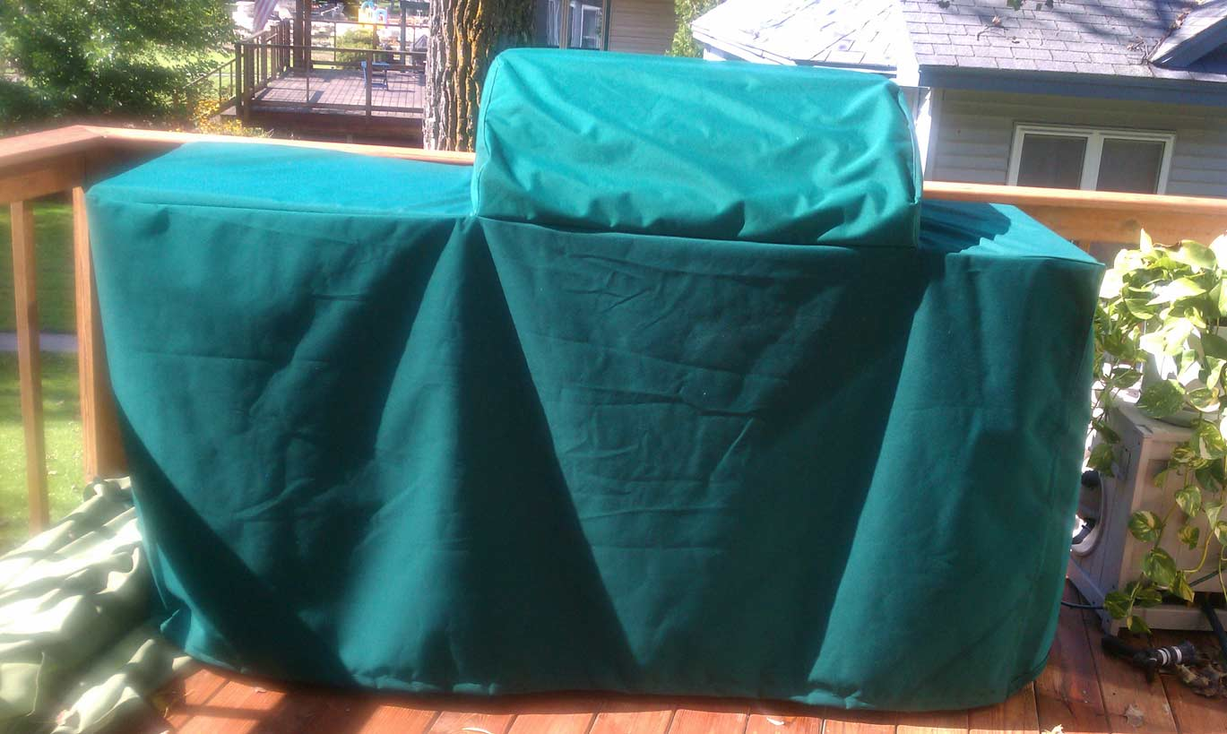 Rolling Grill Cover Sunbrella Forest Green