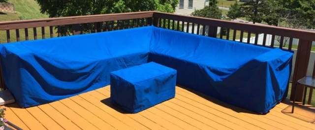 Sectional Cover Sunbrella Pacific Blue