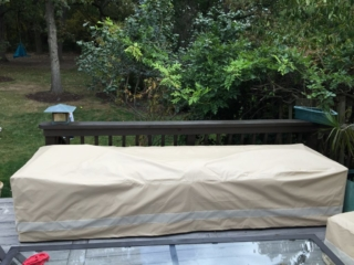 Sofa Cover with Vents Stamoid Light Sand