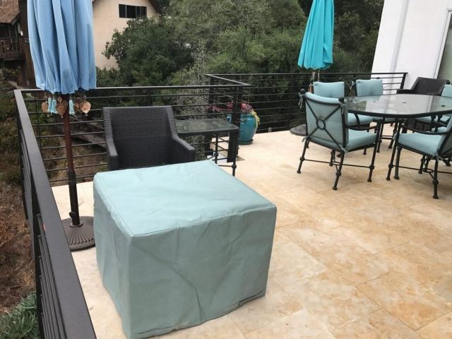 Sunbrella spa firepit cover