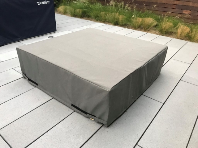 Table Cover Sunbrella Charcoal