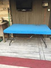 Table Top Cover Sunbrella Silica Carribean