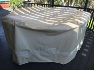 Table and Chair Cover Stamoid Light Sand 2