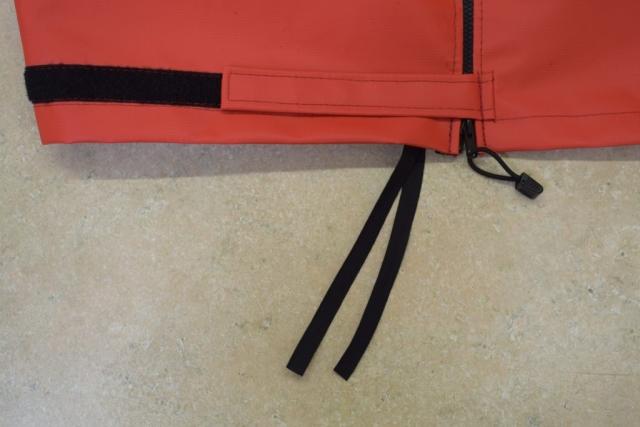 Velcro strap zipper and internal strap