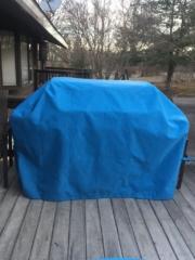 Weber Grill Genesis II LX Cover Sunbrella Silica Carribean